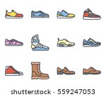 sneakers and men shoes icon | Shutterstock .eps vector #559247053