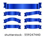 blue ribbons set. satin blank... | Shutterstock .eps vector #559247440