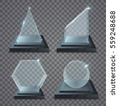 realistic glass trophy awards.... | Shutterstock .eps vector #559248688