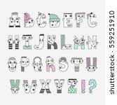 funny handwritten colored... | Shutterstock .eps vector #559251910