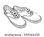 sketch illustration. gumshoes... | Shutterstock . vector #559264150