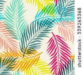 tropical palm leaves  jungle...   Shutterstock .eps vector #559265368