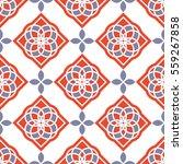 portuguese azulejo tiles. blue... | Shutterstock .eps vector #559267858