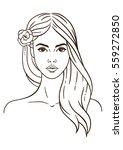 illustration face in white... | Shutterstock . vector #559272850