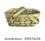 basket wattled from wood. hand... | Shutterstock . vector #559276258