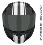 Black Motorcycle Helmet With...