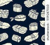 sushi seamless pattern.... | Shutterstock .eps vector #559287010