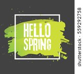 hello spring. lettering with... | Shutterstock .eps vector #559292758