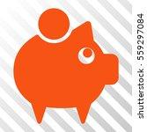 orange piggy bank toolbar... | Shutterstock .eps vector #559297084