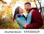 portrait of young loving couple ... | Shutterstock . vector #559300429