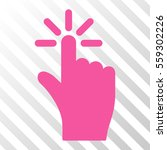 pink click interface pictogram. ...