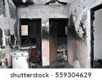 Burned House Inside  Hallway...