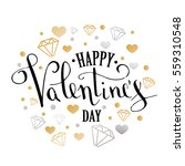 valentine's day greeting card... | Shutterstock .eps vector #559310548