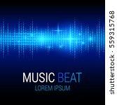 music beat. blue lights...