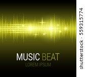 music beat. yellow lights... | Shutterstock .eps vector #559315774