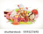 sweet shop. confectionery and... | Shutterstock .eps vector #559327690