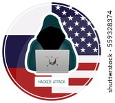 russian hacking usa. hacker in... | Shutterstock .eps vector #559328374
