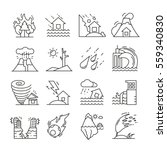 natural disaster icons thin... | Shutterstock .eps vector #559340830