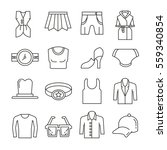 clothing and accessories icons... | Shutterstock .eps vector #559340854