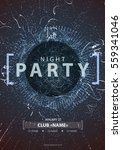 night disco party poster...   Shutterstock .eps vector #559341046