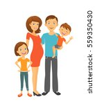 parents with children. happy... | Shutterstock . vector #559350430