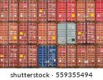 stack of freight containers... | Shutterstock . vector #559355494
