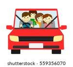 family drive | Shutterstock . vector #559356070