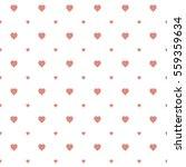 seamless heart pattern... | Shutterstock .eps vector #559359634