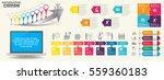 timeline infographics design... | Shutterstock .eps vector #559360183