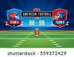 vector of american football... | Shutterstock .eps vector #559372429