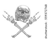 skull and crossbones hands with ...