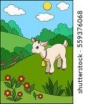 cartoon farm animals for kids.... | Shutterstock .eps vector #559376068