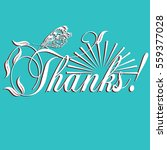 thanks  elegant calligraphic... | Shutterstock .eps vector #559377028