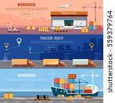 global logistics. cargo... | Shutterstock .eps vector #559379764
