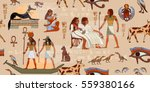 ancient egypt seamless pattern. ... | Shutterstock .eps vector #559380166
