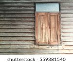 old wood wall and window... | Shutterstock . vector #559381540