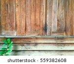 crop of old wood wall window... | Shutterstock . vector #559382608