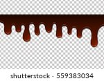 melted chocolate isolated.... | Shutterstock .eps vector #559383034