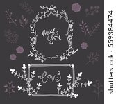 hand drawn vector romantic set | Shutterstock .eps vector #559384474