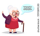old woman with cane. senior... | Shutterstock . vector #559389130