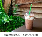 ice cocao at vintage cafe | Shutterstock . vector #559397128