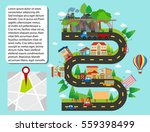 city map with buildings and... | Shutterstock .eps vector #559398499