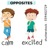 opposite words for calm and... | Shutterstock .eps vector #559402729