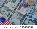 dollar cash  banknote  coin and ... | Shutterstock . vector #559410334