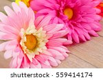 Colorful Fabric Daisies On...