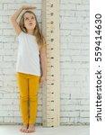 girl growth measures | Shutterstock . vector #559414630