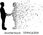 silhouette vector of man and... | Shutterstock .eps vector #559416304