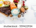 assortment of healthy food....   Shutterstock . vector #559422934