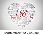 happy valentine's day 2017.... | Shutterstock . vector #559423300