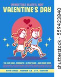 valentines day party poster... | Shutterstock .eps vector #559423840